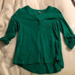 Kelly green blouse